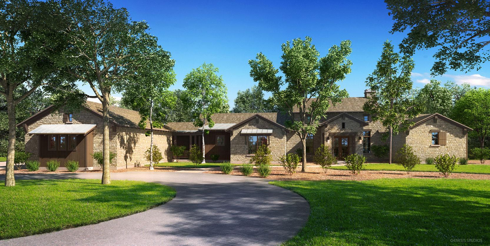 Wheelock Communities, Boot Ranch, Fredericksburg, TX - Digital Rendering