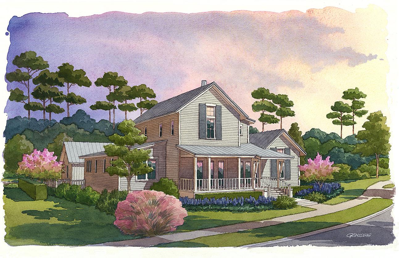 Crecent Communities, Palmetto Bluff - Watercolor