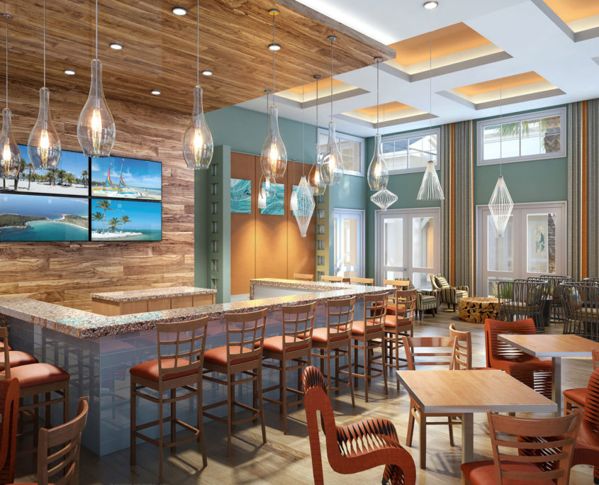 818027- Digital Photorealistic Architectural Rendering of The Floridian Club for Rhett Alexander