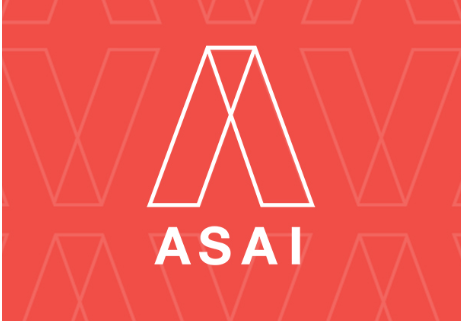 American Society of Architectural Illustrators ASAI Logo with Patterned Background