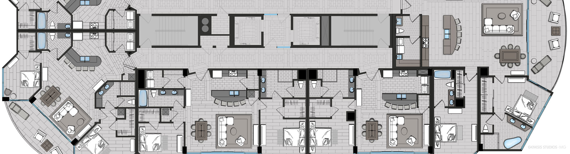 2D Architectural Floor Plan for WJ Weeks Architecture