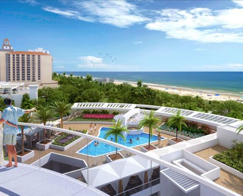 Digital Photorealistic Architectural Renderings of Vanderbilt Beach Balcony View for Stock Development