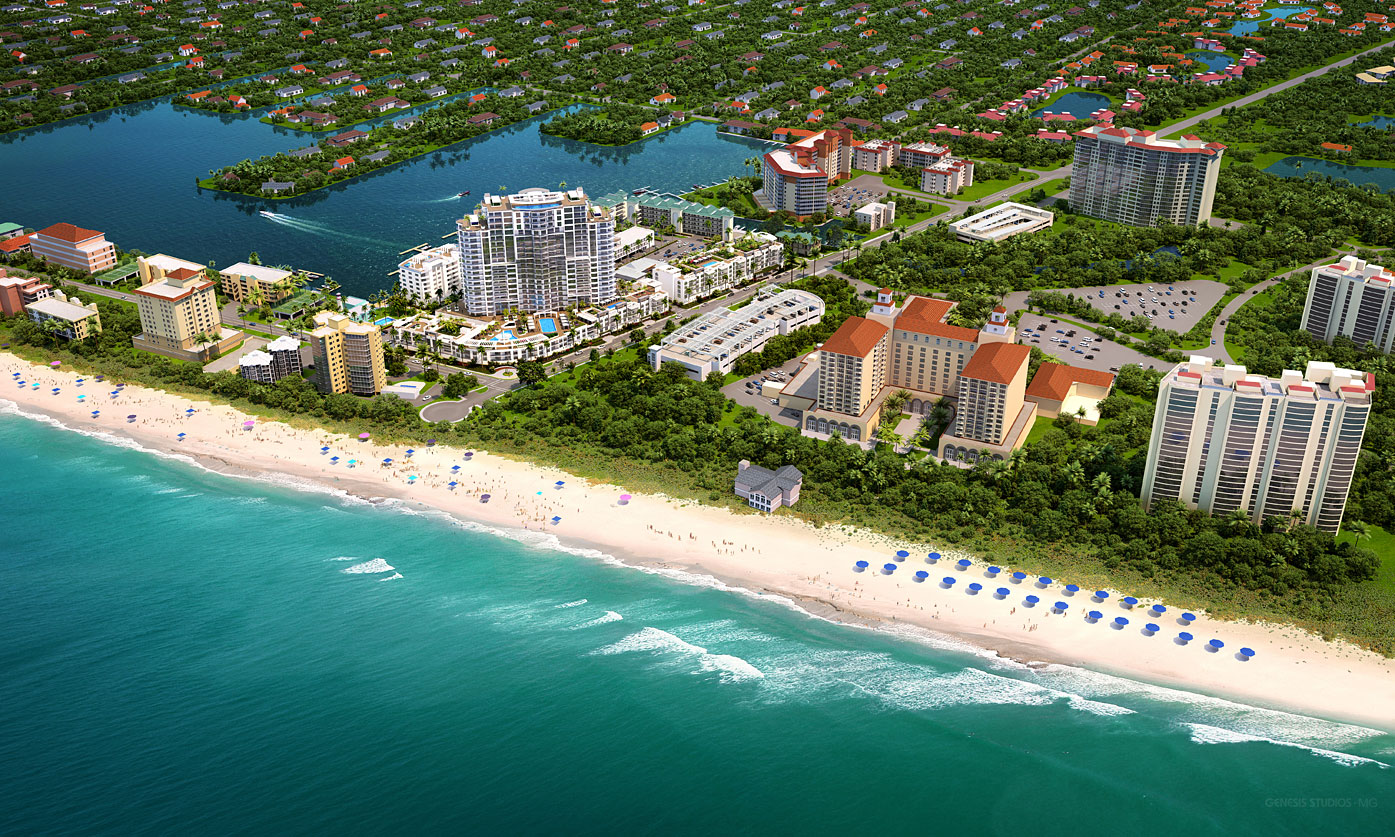 717025 Digital Photorealistic Architectural Renderings of Vanderbilt Beach Ocean View for Stock Development
