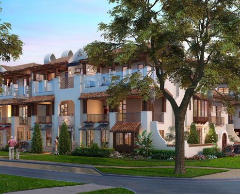 Digital Exterior Architectural Renderings of Winter Park Townhomes