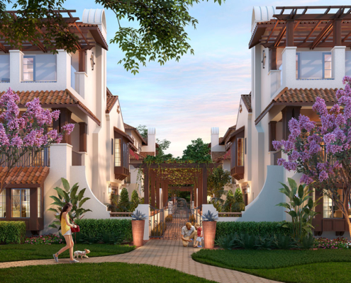 3D Photorealistic Architectural Renderings of Winter Park Townhome
