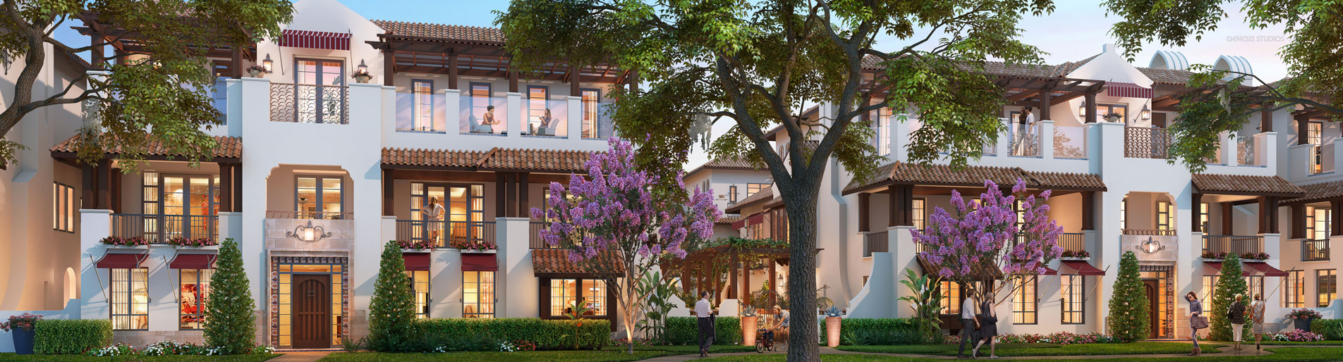 717110 Digital Photorealistic Architectural Renderings of Winter Park Townhomes for ACi Architects