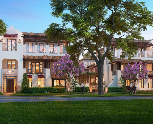 Digital Photorealistic Architectural Renderings of Winter Park Townhomes