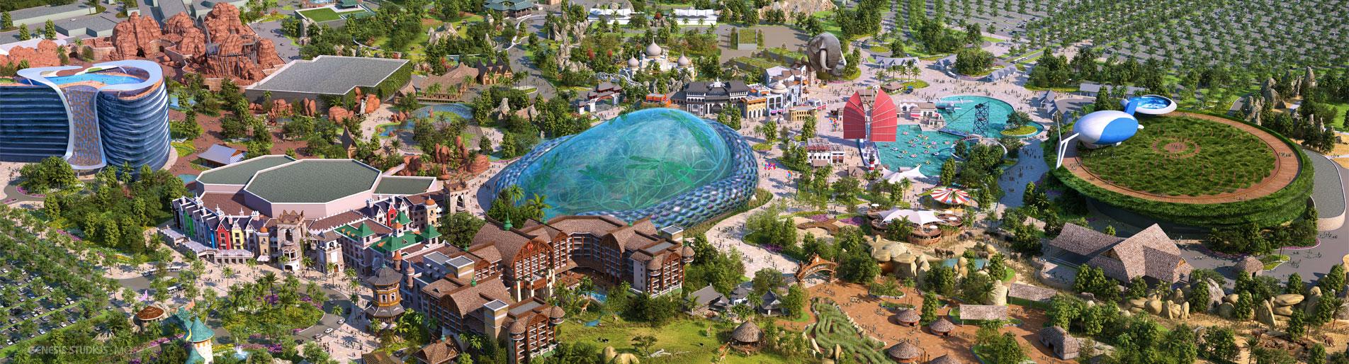 Digital 3D Architectural Renderings of Zhengzhou Zoo