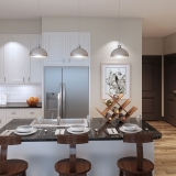 3D Multi-Family Home Interior Renderings of Round Rock Kitchen for LIV Development