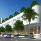 3D Retail Renderings of Whole Foods Building from a View of the Street Corner for RAM Realty Services