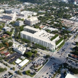 Photomontage Renderings of Whole Foods Retail and Multi Family Home Building from an Aerial View for RAM Realty Services