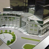 Architectural Scale Model of Time Warner Center on Columbus Circle for Skidmore Owings and Merrill