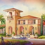 414129- Digital Watercolor Architectural Rendering of Tamaya Front Entrance for Ervin Lovett Miller