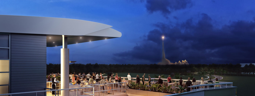 414138 Digital Photorealistic Architectural Rendering of Exploration Park Rocket Launch for Space Florida