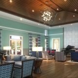 515033 Digital Photorealistic Architectural Renderings of La Morada Lobby for WCI Communities