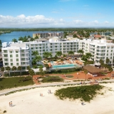 515036 Digital Photorealistic Architectural Renderings of Treasure Island Beach Resort from an Aerial View for Curt Gaines Hall Jones Architects