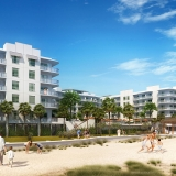 515036 Digital Photorealistic Architectural Renderings of Treasure Island Beach Resort with a View of the Beach for Curt Gaines Hall Jones Architects