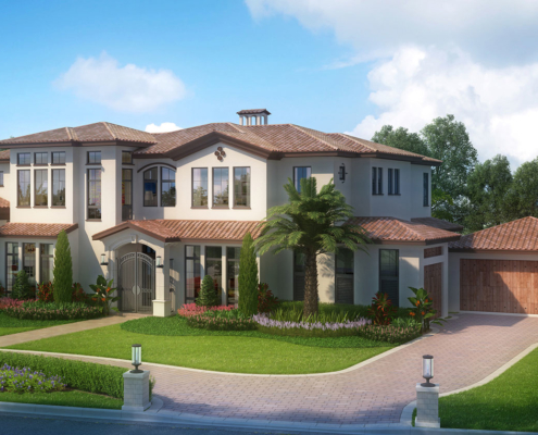 515082 Digital Photorealistic Architectural Renderings of Haider Residence for Feely Developments