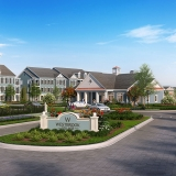 515136 Digital Photorealistic Architectural Renderings of Westbrook Village Entrance for Greenview Properties