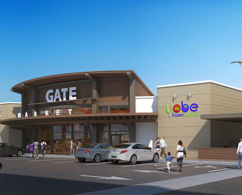 515168 Digital Photorealistic Architectural Rendering of Gate at Nocatee Exerior for Ervin Lovett Miller
