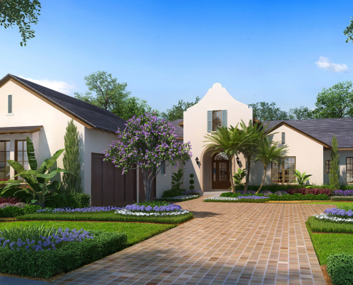 Digital Photorealistic Architectural Rendering of Lake Nona Lot 53 Single Family Home for Issa Homes
