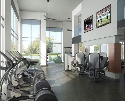 616004 Digital Photorealistic Architectural Renderings of Jamboree Interior Fitness Room for UDR