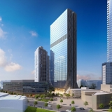 616023 Digital Photorealistic Architectural Renderings of Fulton Tower Exterior for Zoning & Code Consulting Group