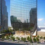 616023 Digital Photorealistic Architectural Renderings of Fulton Tower Front Entrance for Zoning & Code Consulting Group