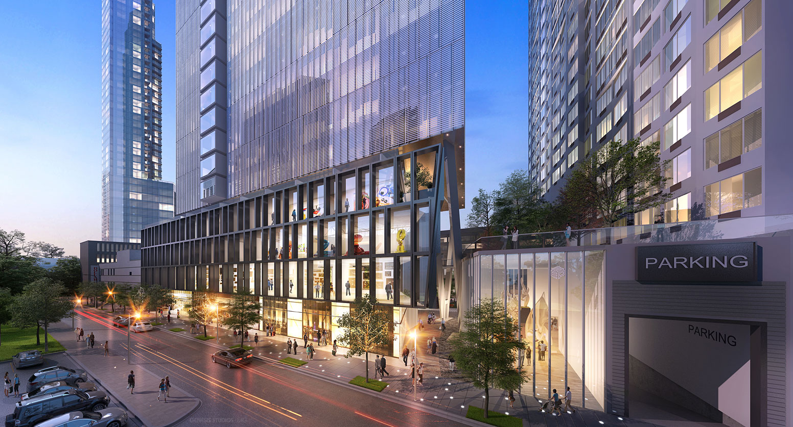616023 Digital Photorealistic Architectural Renderings of Fulton Tower Parking Garage for Zoning & Code Consulting Group