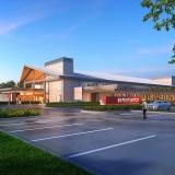 616032 Digital Photorealistic Architectural Renderings of Horizon West Emergency Exterior Enterance for Hunton Brady Architects