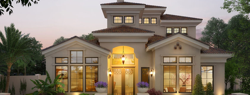 616038 Digital Photorealistic Architectural Renderings of Winter Park Lot 4 Front Yard for Haider Development
