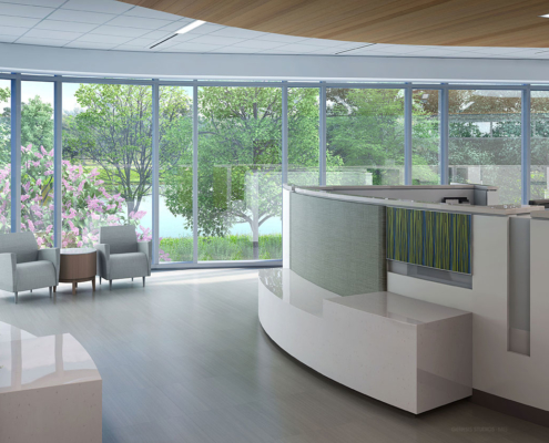 Digital Photorealistic Architectural Renderings of Lakeland Regional Cancer Center Infusion Corral