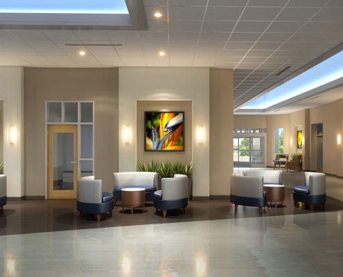 Digital Photorealistic Architectural Renderings of Lakeland Regional Cancer Center