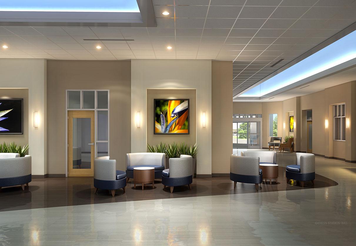 Digital Photorealistic Architectural Renderings of Lakeland Regional Cancer Center