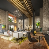616060 Digital Photorealistic Architectural Renderings of Maitland Station Interior for Epoch Residential