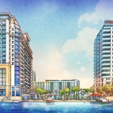 616067 Digital Watercolor Architectural Rendering of Sarasota Quay Waterfront for Baker Barrios