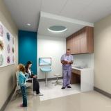 616070 Digital Photorealistic Architectural Renderings of Lakeland Regional Medical Center Pavilion for Women and Children Exam Room