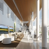 Digital Photorealistic Architectural Renderings of Florida Hospital Heartland Atrium for Hunton Brady Architects