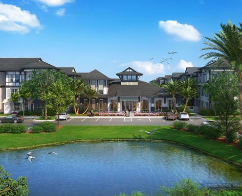 616124 Digital Photorealistic Architectural Renderings of Seaglass Multi Family Living for Catalyst Development Partners