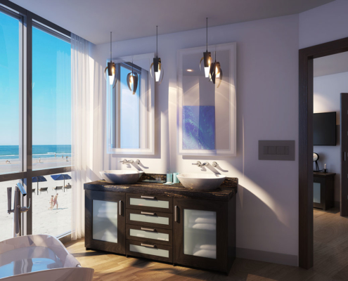 3D Architectural Renderings of Max Daytona Bathroom for WJ Weeks Architecture