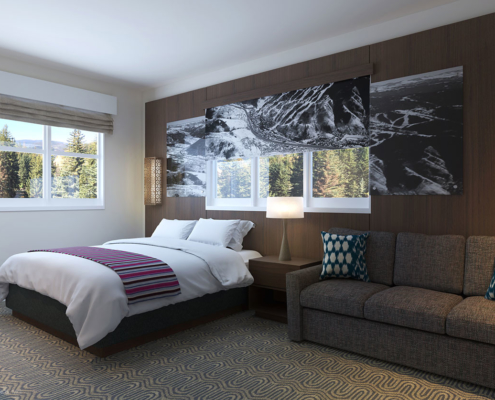 616151 Digital Photorealistic Architectural Rendering of Streamside Bedroom for LuP Interiors