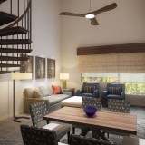 616151 Digital Photorealistic Architectural Renderings of Streamside Living Room for LuP Interiors