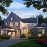 616161 Digital Photorealistic Architectural Renderings of Villa A at Dusk for The Grove