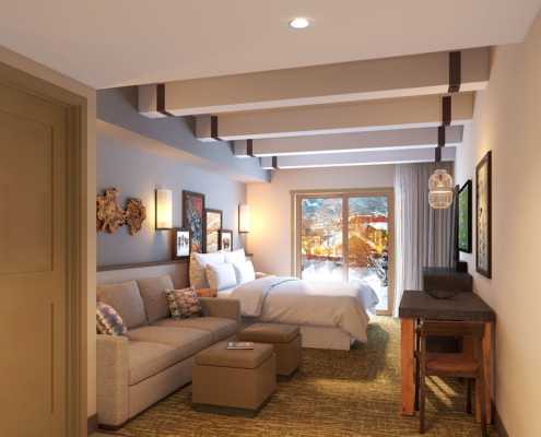 616178 Digital Photorealistic Architectural Rendering of Sheraton Steamboat Room for Kimberly Timmons Interiors