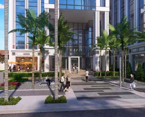 717009 Digital Photorealistic Architectural Renderings of Tampa Bay Times Entrance for Booth Design