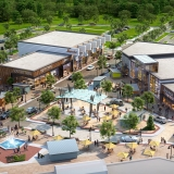 717049 Digital Photorealistic Architectural Renderings of One Loudoun from an Aerial View for The Eisen Group
