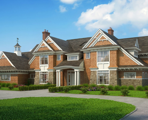 717057 Digital Photorealistic Architectural Renderings of Oliver's Cove Single Family Home for Busch Associates