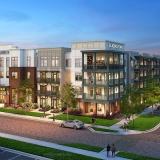 717106 Digital Photorealistic Architectural Renderings of Bluebird Row Exterior for Charlan Brock Associates