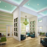 717107 Digital Photorealistic Architectural Rendering of The Floridian Leasing Office for Rhett Alexander Architects