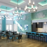 717107 Digital Photorealistic Architectural Rendering of The Floridian Party Room for Rhett Alexander Architects